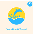 Travel concept sign vector image