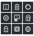 Various window icons set vector image