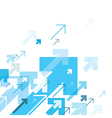 Blue Arrows Up Motion Up Successful Concept Cover vector image