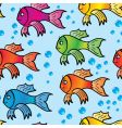 abstract background of multicolor fishs vector image