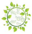 green ecology circle vector image
