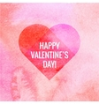Greeting card happy Valentines day watercolor vector image