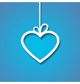 heart paper blue vector image