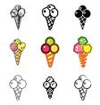 icons icecream vector image