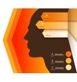 infographics arrows man vector image