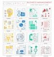 Infographics mini concept Business management vector image