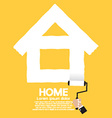 Paint Roller Home Concept vector image