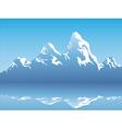 snow mountain reflection vector image
