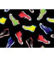 Teenager sneakers pattern vector image