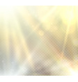 transparent sunlight flare light effect vector image