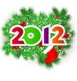 Happy new year 2012 design element vector image vector image