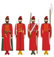 Weapons and uniforms archers in Russia vector image vector image