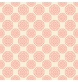 Seamless pattern with abstract pink flowers on vector image