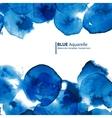 Watercolor blue circles abstract frame vector image