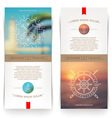 Banners with line drawing Nautical sign vector image vector image