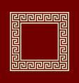 square frame meander ansient pattern vector image