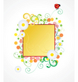 ladybird and daisy frame vector image vector image