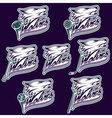 set of wolf sports labels vector image