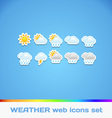 Colorful Weather Icons vector image vector image