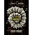 Jazz Live music festival poster background vector image