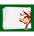 Cartoon Paper Space monkey Vector Image