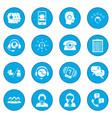 call center service icon blue vector image