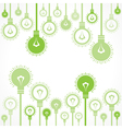 Green bulb background stock vector image