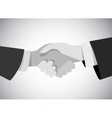 Handshake business man hand gray scale flat vector image