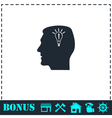 Head idea icon flat vector image