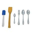 paint of kitchen utensils vector image