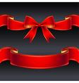 ribbon red border vector image