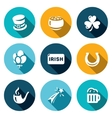 Set of Ireland Icons Irish country vector image