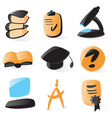 Smooth education icons vector image
