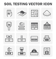 Soil Testing Icon vector image