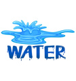 Water splash with the word water vector image