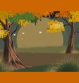 leaves falling scene vector image vector image