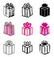 icons gift vector image vector image