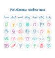 Miscellaneous doodle icons color on white vector image vector image