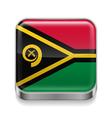 Metal icon of Vanuatu vector image vector image