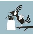 Animation a bird vector image