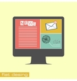 Business concept flat icons vector image vector image