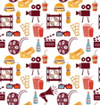 cinema pattern resize vector image