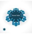 round table vector image