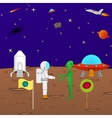 Beautiful cartoon funny background of the cosmos vector image