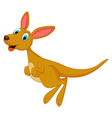 cartoon kangaroo jumping vector image vector image