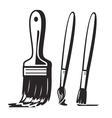 Black paint brush vector image