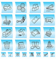 construction buttons and icons vector image