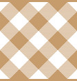 lumberjack plaid pattern in brown and white vector image