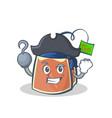 Pirate tea bag character cartoon vector image