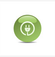 plug icon on green bubble vector image